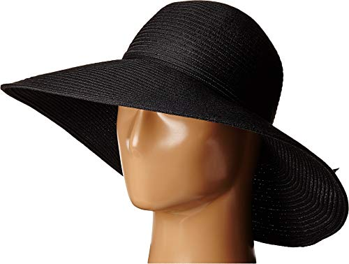 San Diego Hat Company Women's 5-inch Brim Sun Hat with Braid Self Tie, Black, One ()