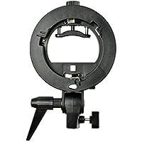 Godox S-Type Camera Flash Speedlite Bracket for Speedlite, Video Light, Reflector, Softbox - Bowens Mount + MicroFiber Cloth