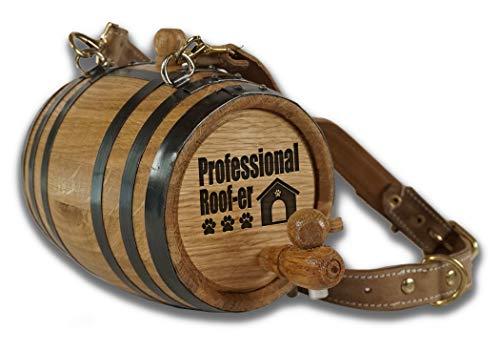1 Liter St. Bernard Dog Collar Barrel with Engraved Design (Professional Roof-er)