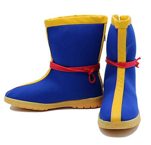 SSJ Dragon Ball Z Super Saiyan Goku Cosplay Shoes Boots (US-7) Blue -