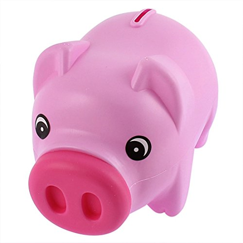 Money Pig - Cute Pig Money Box Piggy Bank for Kid's Birthday Gift,Pink-Develop a Good Habbit of Saving Money