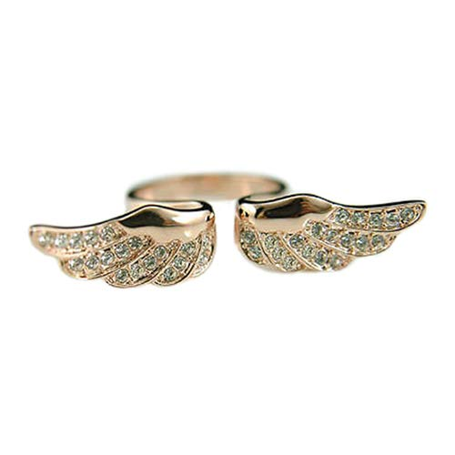 Acamifashion Women's Vintage Retro Angel Wing Gold Plated Adjustable Open Rings Jewelry by Acamifashion (Image #1)