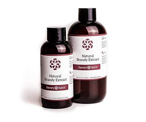Brandy Extract Natural - 4 floz Bottle (Best Brandy For Baking)
