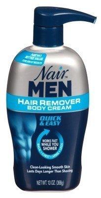 Nair For Men Hair Removal Body Cream 13 oz (Pack of 6)