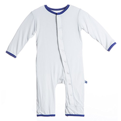 KicKee Pants Baby Boys' Applique Coveralls (Baby) - Natural Balloons - 0-3 Months