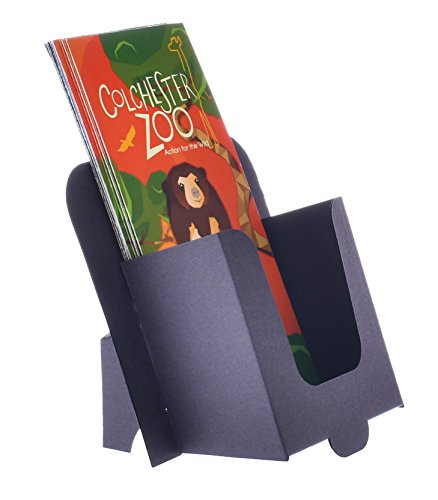 Stand-Store Card-DL Dispenser for DL/A6/Tri-fold Leaflets and Brochures - Black (Pack of 10)