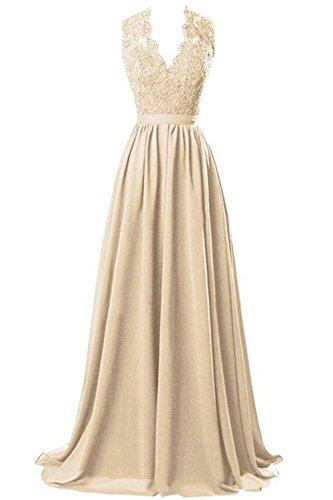 CoutureBridal - Vestido - corte imperio - para mujer champán