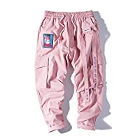 Goodtimeshow Men Joggers Hip Hop Streetwear Pants Casual Trousers Popular Pink Cargo Pants