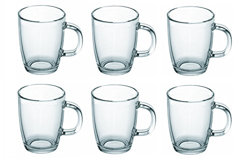 Bodum Bistro Glass Coffee Mug 11239 12-ounces .35L Set of 6
