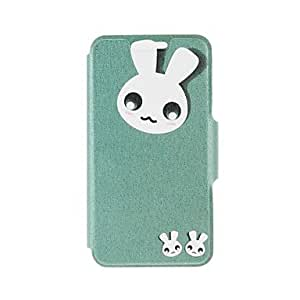 DD Kinston Cute Rabbit Pattern PU Leather Full Body Cover with Stand for iPhone 6 Plus