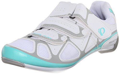 Pearl Izumi Women's W Select RD IV Cycling Shoe, White/Aqua Mint, 40 EU/8.3 B US
