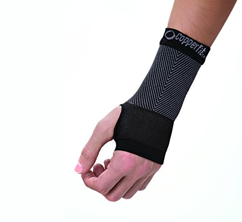 Copper Fit Unisex Advanced Support Wrist Sleeve, Black, X-Giant, 1 Ounce – DiZiSports Store