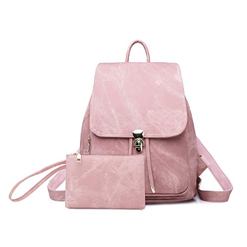 Purse School Tote Lightweight Backpack Women PU Shoulder Rucksack Bag Pink Lady Leather Ybriefbag SwYEqp