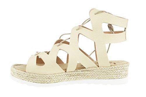 Lince Roman Sandalia Cream Tailed Shoes
