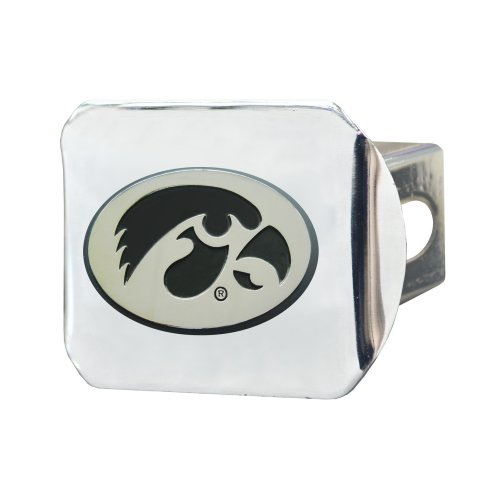 Iowa Hawkeyes Trailer Hitch (FANMATS NCAA University of Iowa Hawkeyes Chrome Hitch Cover)
