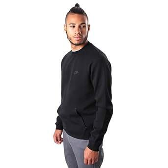 Nike Men's Tech Fleece Crew Sweatshirt, Black, Small
