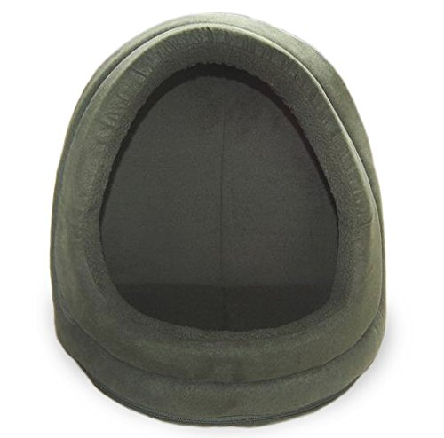 "Furhaven Pet Terry & Suede Hood, Forest, 14"" BASE"
