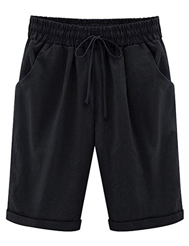 HaoDian Women's Modest Loose Elastic-Waisted Be...