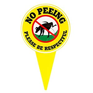 Amazon.com : WaaHome Large No Peeing Dog Sign Please Be ...