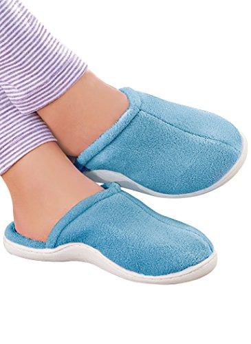 AmeriMark Blue Berry Slippers Slippers Slipper Women's Adult Synthetic fqprH0f