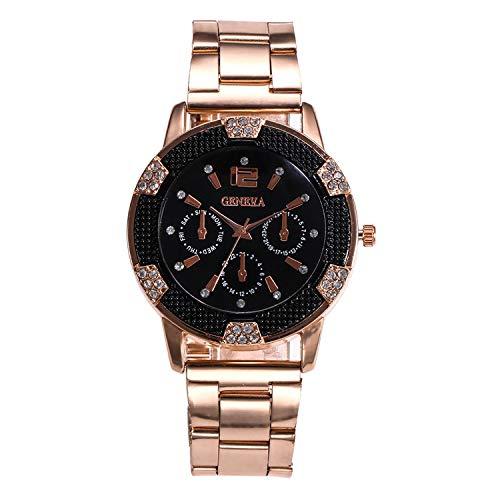 Luxury Watch Women Rose Gold Zhou Lianfa Quartz Watch Men Leather Strap Clock #03,As The Photo Show
