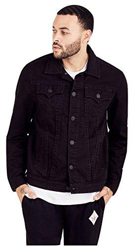 True Religion Men's Trucker Jacket in Jet Black (Small) by True Religion
