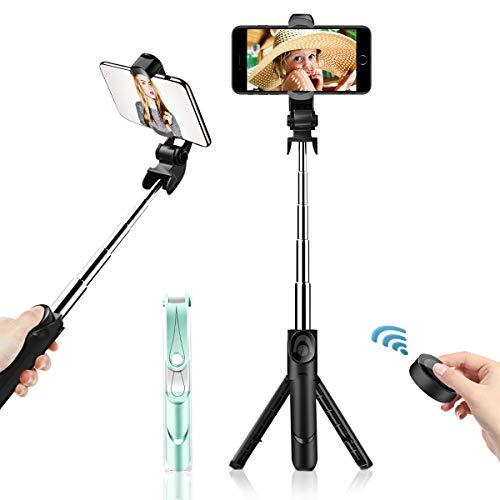 Bluetooth Selfie Stick with Tripod,KENENGDA 360° Rotation Detachable