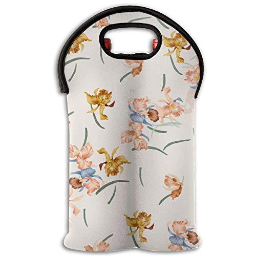 Ballet Wdba1701 H 2 Bottle Wine Tote Carrier Bag Portable Insulated Polyester Beer Hand Bag for Travel,Picnic,Party