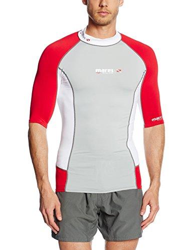 Mares Rash Guard Trilastic S-Sleeve DC - Chaqueta unisex, color blanco