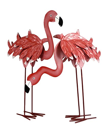 (Party Explosions Tropical Pink Flamingo Decorative Figurine Set of 2)