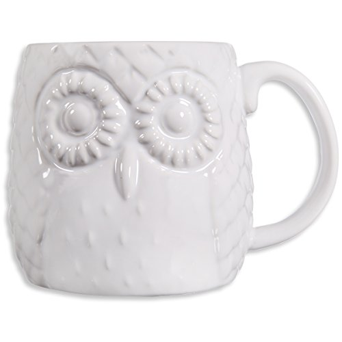Home Essentials Embossed Owl White