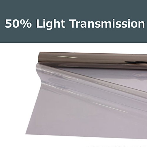 50% shade color 20 Inches by 10 Feet Window Tint Film Roll, for privacy and heat reduction PROTINT WINDOWS