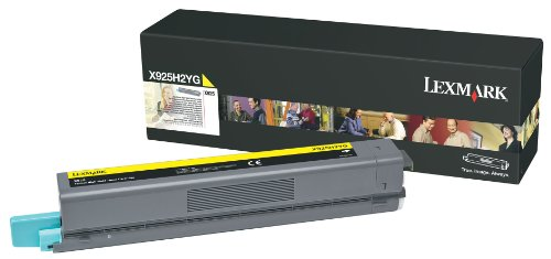 Lexmark High Yield Yellow Toner Cartridge, 7500 Yield, for Use in Model X925 (X925H2YG) ()