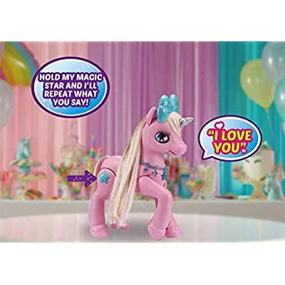 Pets Alive My Magical Unicorn in Stable Battery-Powered Interactive Robotic Toy Playset (Pink Unicorn) by ZURU: Toys & Games