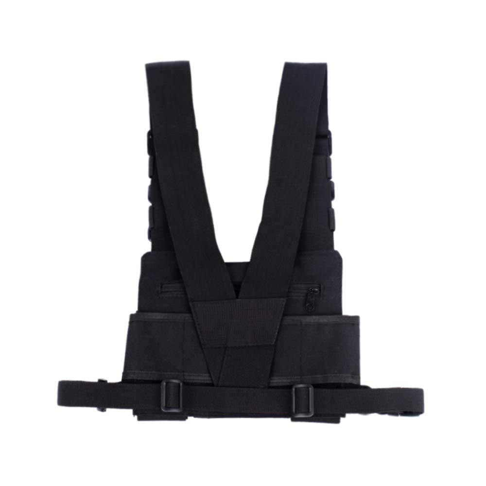 f86e236ea67e4b Amazon.com: Saigain Universal Hands Free Radio Vest Chest Rig Harness Bag  Holster for Two Way Radio (Rescue Essentials): Cell Phones & Accessories