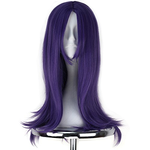 Miss U Hair Girl Long Wavy Light Purple Hair Middle Part Adult Party Game Cosplay Wig C202 (Wigs Purple)