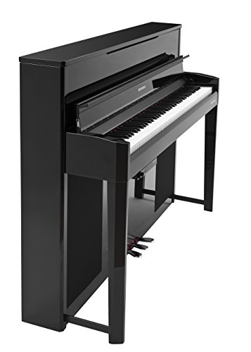 Kurzweil CUP2A Compact Upright Digital Home Piano, Black Polish