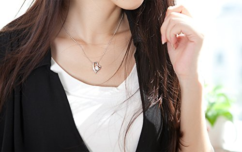 """S-Raw Cubin Zircon """"You Are the Only One in My Heart"""" 925 Sterling Silver Pendant Necklace 18''"""