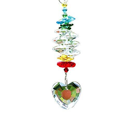 (Wispun Crystals Ball Prisms Suncatcher Hanging Ornament Chakra Crystals Rainbow Maker Crystal Pendants for Home, Wedding, Garden Decoration)