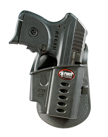 Fobus Tactical KTP CT Standard Right Hand Conceal Carry Polymer Paddle Holster For Ruger LCP with Crimson Trace Laser Pointer - Black