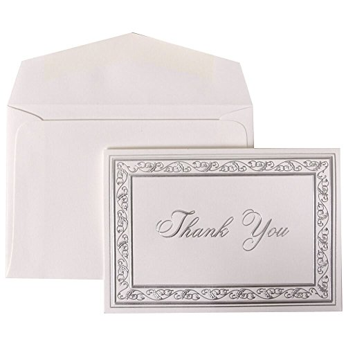 Card Sets - Bright White Cards with Silver Border - 104 Cards & 100 Envelopes ()