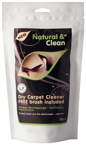 Natural & Clean Dry Carpet Cleaner 500 g Cleantec Innovation Ltd 62539