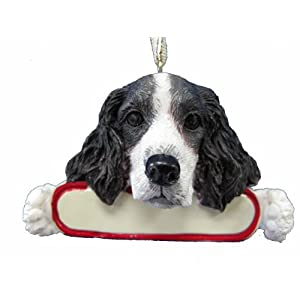 E&S Pets Springer Spaniel Ornament Santa's Pals with Personalized Name Plate A Great Gift for Springer Spaniel Lovers 23