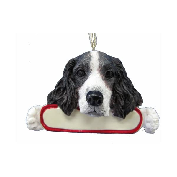 E&S Pets Springer Spaniel Ornament Santa's Pals with Personalized Name Plate A Great Gift for Springer Spaniel Lovers 1