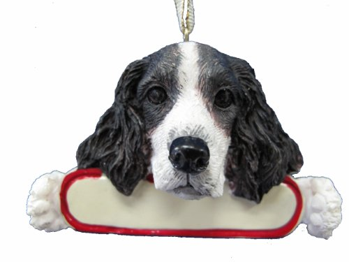 - E&S Pets Springer Spaniel Ornament Santa's Pals with Personalized Name Plate A Great Gift for Springer Spaniel Lovers
