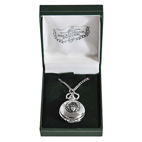 Celtic Claddagh Watch (Mullingar Pewter Ladies Pocket Watch With Claddagh Design)