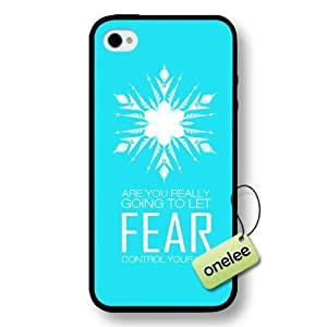 Disney Frozen Quotes Hard Plastic Phone Case Cover for iPhone 4/4s - Black