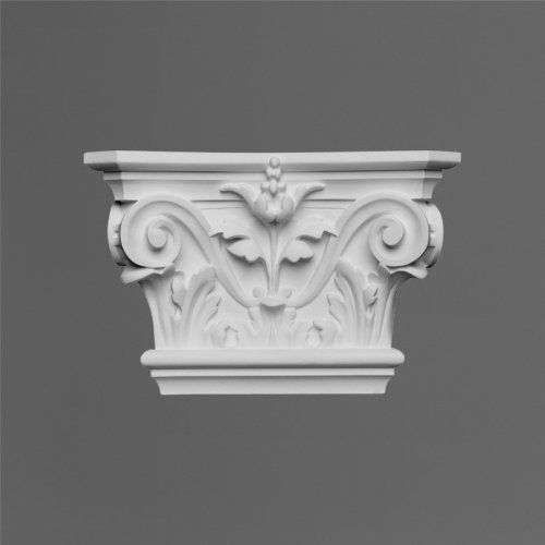 Orac K201 Capital for fluted Pilaster 6 Inches wide by 9 Inch high by 2 1/2