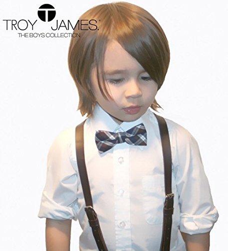 Troy James Boys Dark Brown Boys Suspenders W// 3 Clips