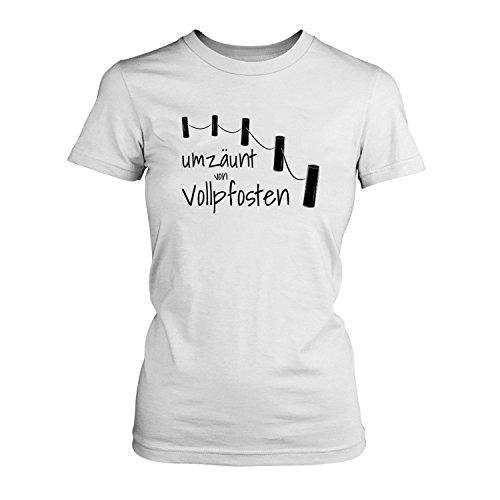 Umzäunt von Vollpfosten - Damen T-Shirt von Fashionalarm | Fun Shirt ...